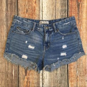 Free People | Distressed Denim Shorts